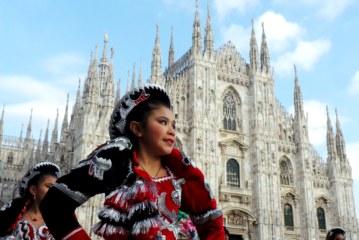Bolivia mostra il suo folklore nel carnevale Ambrosiano 2016