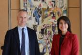 Il sindaco Marco Doria ha ricevuto la console dell'Ecuador Esther Cuesta Santana