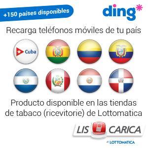 DING - Recarga tu teléfonos móviles de tu país