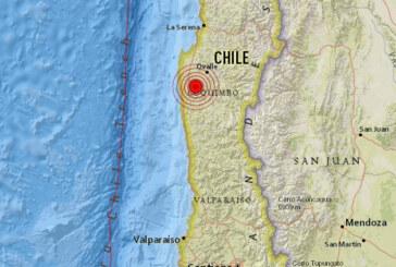 Un fuerte sismo de magnitud 6,2 sacudió Chile