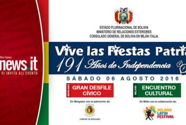 BOLIVIA FESTEJA SUS FIESTAS PATRIAS EN LOMBARDIA