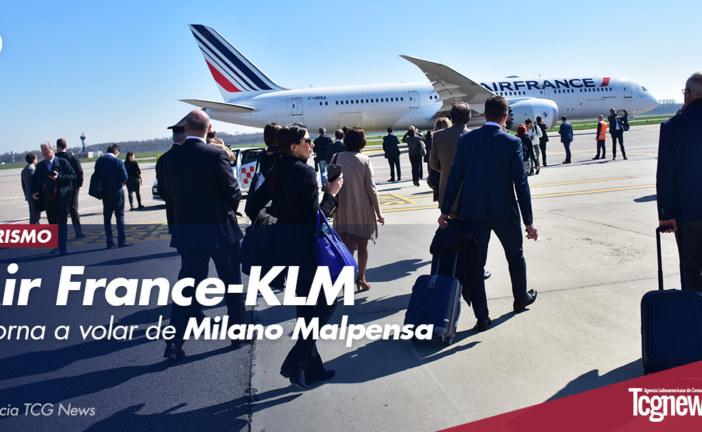 Air France-KLM retorna a volar de Milano Malpensa