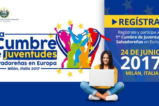 Regístrate y Participa a la Primera Cumbre de Juventudes Salvadoreñas en Europa