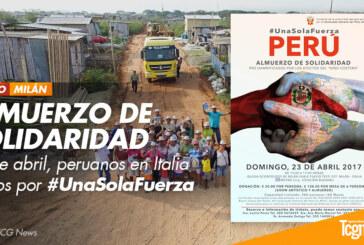 ALMUERZO DE SOLIDARIDAD – Peruanos en Italia Unidos por #UnaSolaFuerza