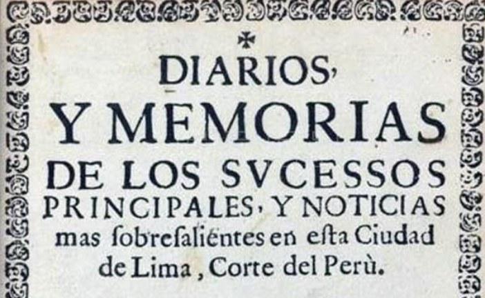 El primer diario de América fue publicado en Lima en 1700