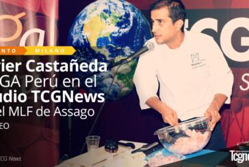 Javier Castañeda y AGA Perú en el Studio TCGNews en el Milano Latin Festival de Assago