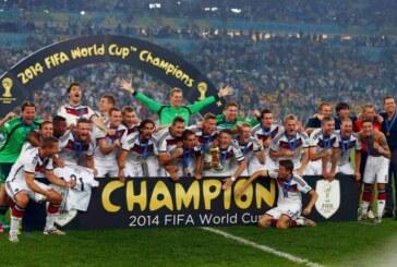 La Germania vince i Mondiali 2014 e diventa la prima nazionale europea in grado di conquistare il titolo in Sudamerica.
