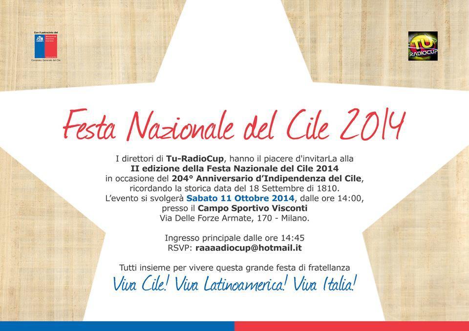Seconda Edizione della Festa Nazionale del Cile a Milano