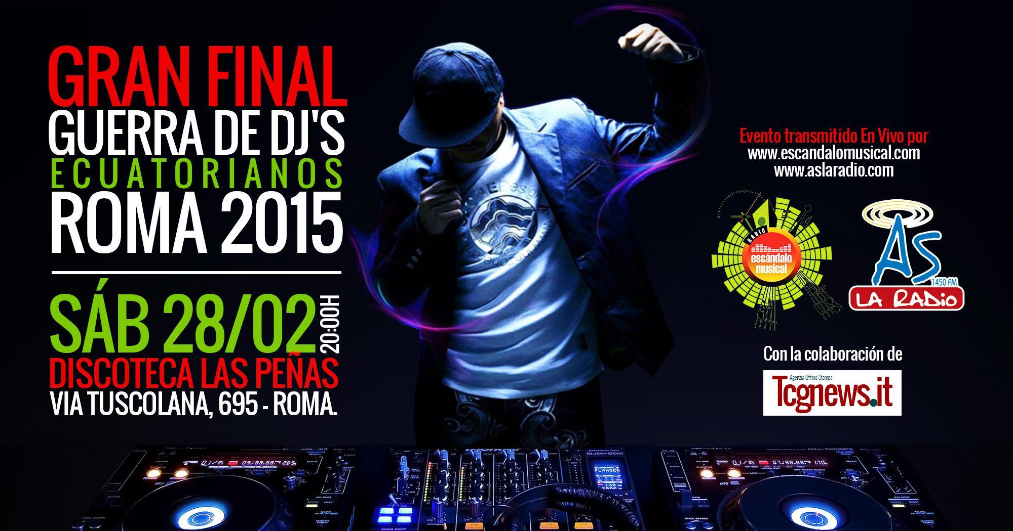 GRAN FINAL DE LA GUERRA DE DJ'S ECUATORIANOS EN ROMA!