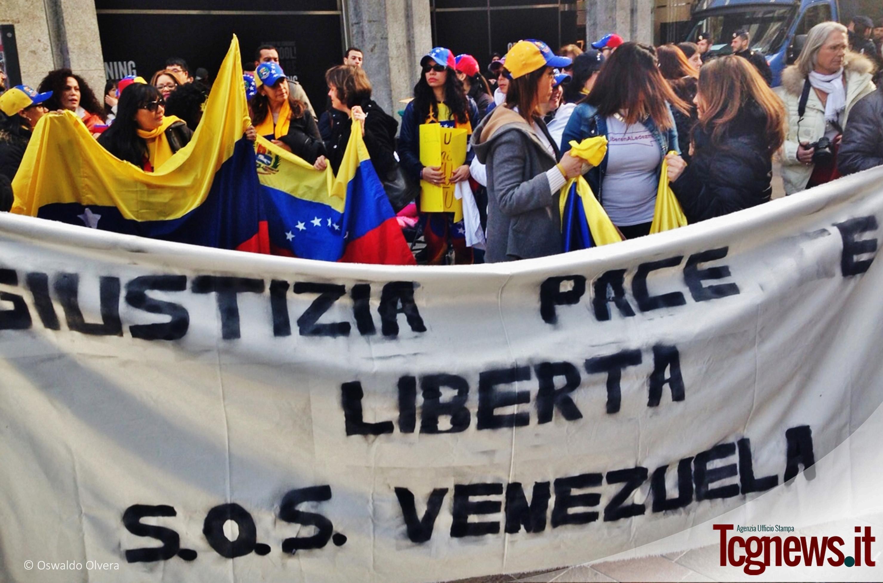A Milano una manifestazione a favore dei detenuti politici in Venezuela