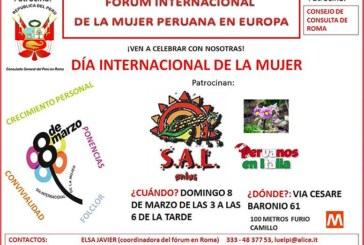 ROMA: El Forum Internacional De La Mujer Peruana en Europa celebra el día internacional de la mujer