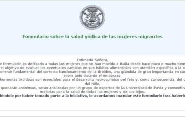 Iniciativa sobre la salud yódica de las mujeres migrantes