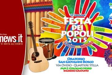 """VI Edizione della """"Festa dei Popoli Cologno – I Colori del Mondo"""" domenica 24 maggio"""