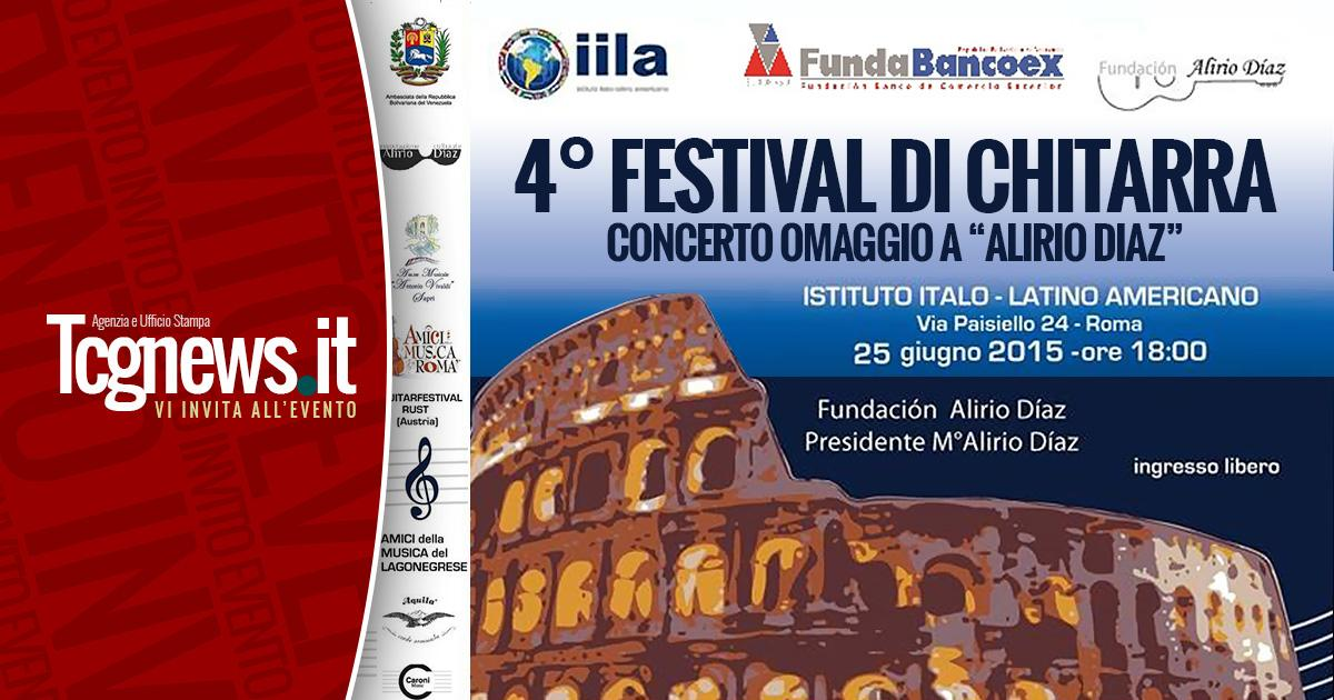 """4° Festival di Chitarra """"Omaggio ad Alirio Díaz"""""""