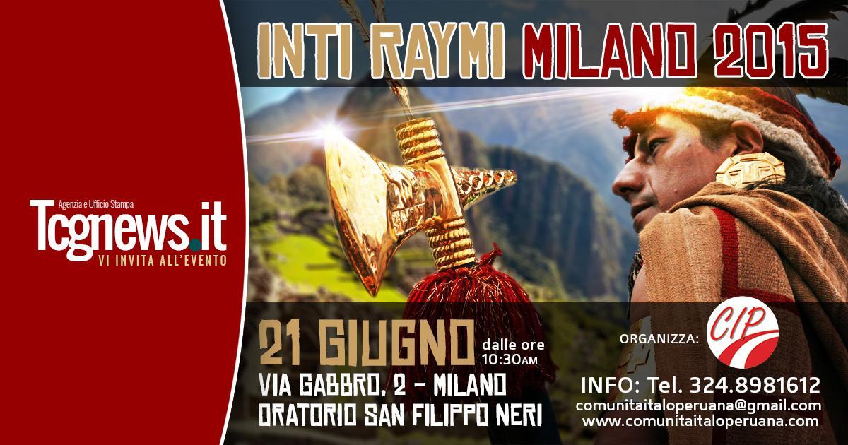 """INTI RAYMI PRESENTA """"IL RISVEGLIO DEL SOLE"""" A MILANO"""