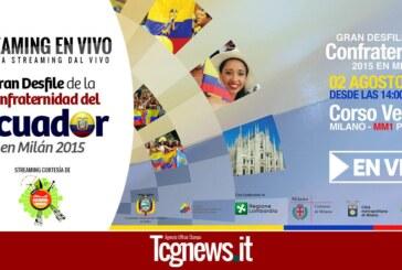 STREAMING EN VIVO – Desfile de la Confraternidad del Ecuador en Milán