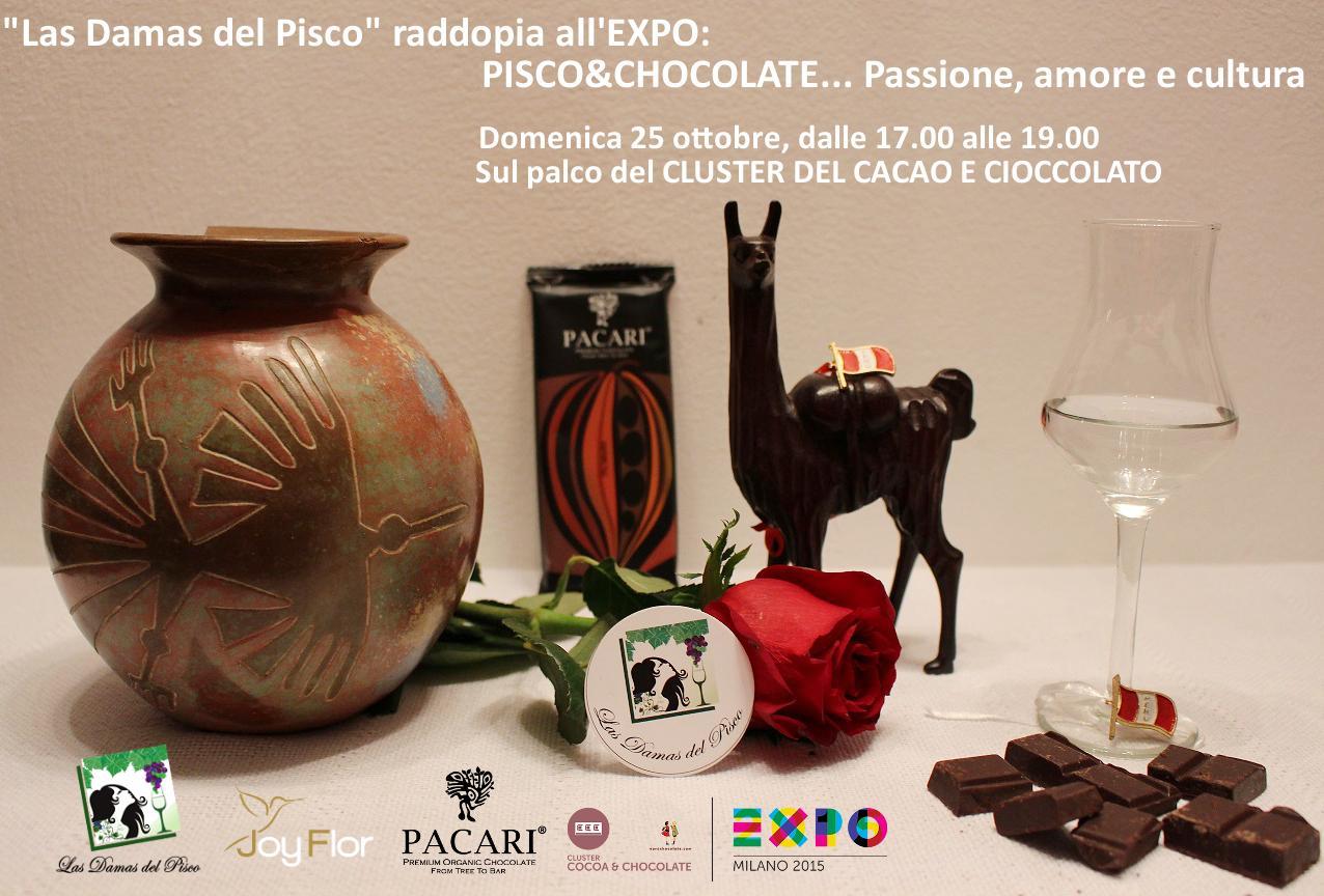 EXPO MILANO 2015 PROGRAMMA EVENTI PACARI CHOCOLATE SUL PALCO DEL CLUSTER DEL CACAO E CIOCCOLATO