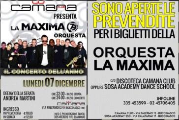 LA MAXIMA 79   in un grandissimo concerto  al Camana di Buccinasco