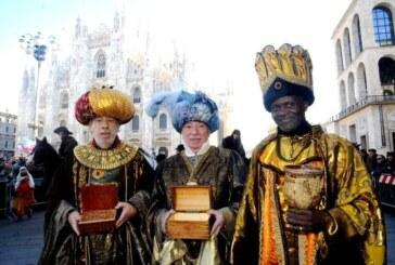 La grande sfilata dei Rei Magi in centro a Milano, 6 gennaio 2016