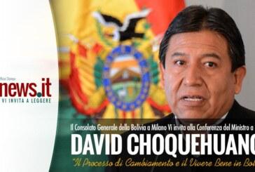 IL MINISTRO DAVID CHOQUEHUANCA, INCONTRA I GIOVANI BOLIVIANI A BERGAMO