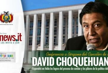 """Canciller de Bolivia expondrá en Italia los logros del proceso de cambio y los pilares de la política del """"Vivir Bien"""""""