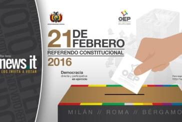 Bolivianos residentes en Italia, votarán el domingo 21 de febrero en el Referendo Constitucional
