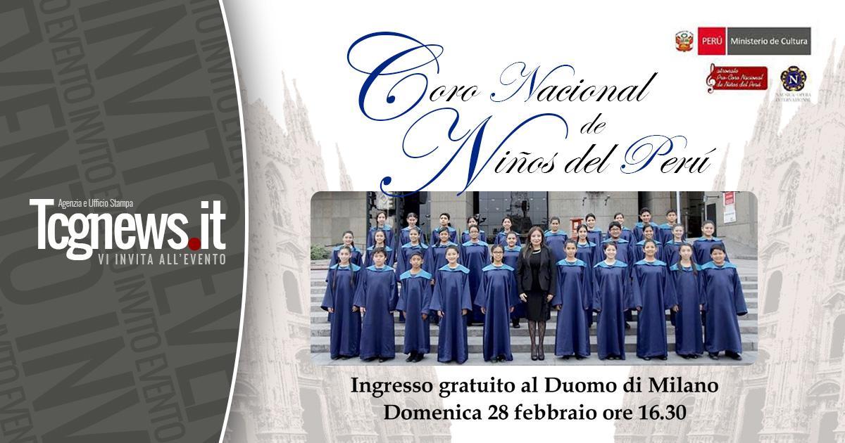Coro Nacional de Niños del Perú en el Duomo de Milán