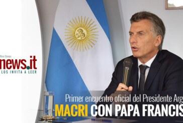 PRIMER ENCUENTRO OFICIAL DESDE SU MANDATO DEL PRESIDENTE ARGENTINO MAURICIO MACRI CON PAPA FRANCISCO