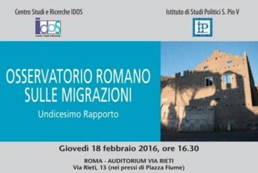 Osservatorio Romano sulle Migrazioni. Undicesimo Rapporto