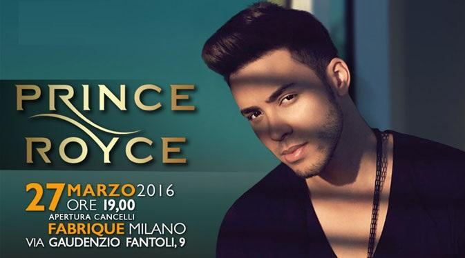 MILANO: Torna in Italia Prince Royce, il principe della bachata