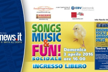 SONGS, MUSIC & FUN! SOLIDALE, evento musical-solidale a favore dell'Associazione AI.SAC.SISCO Onlus