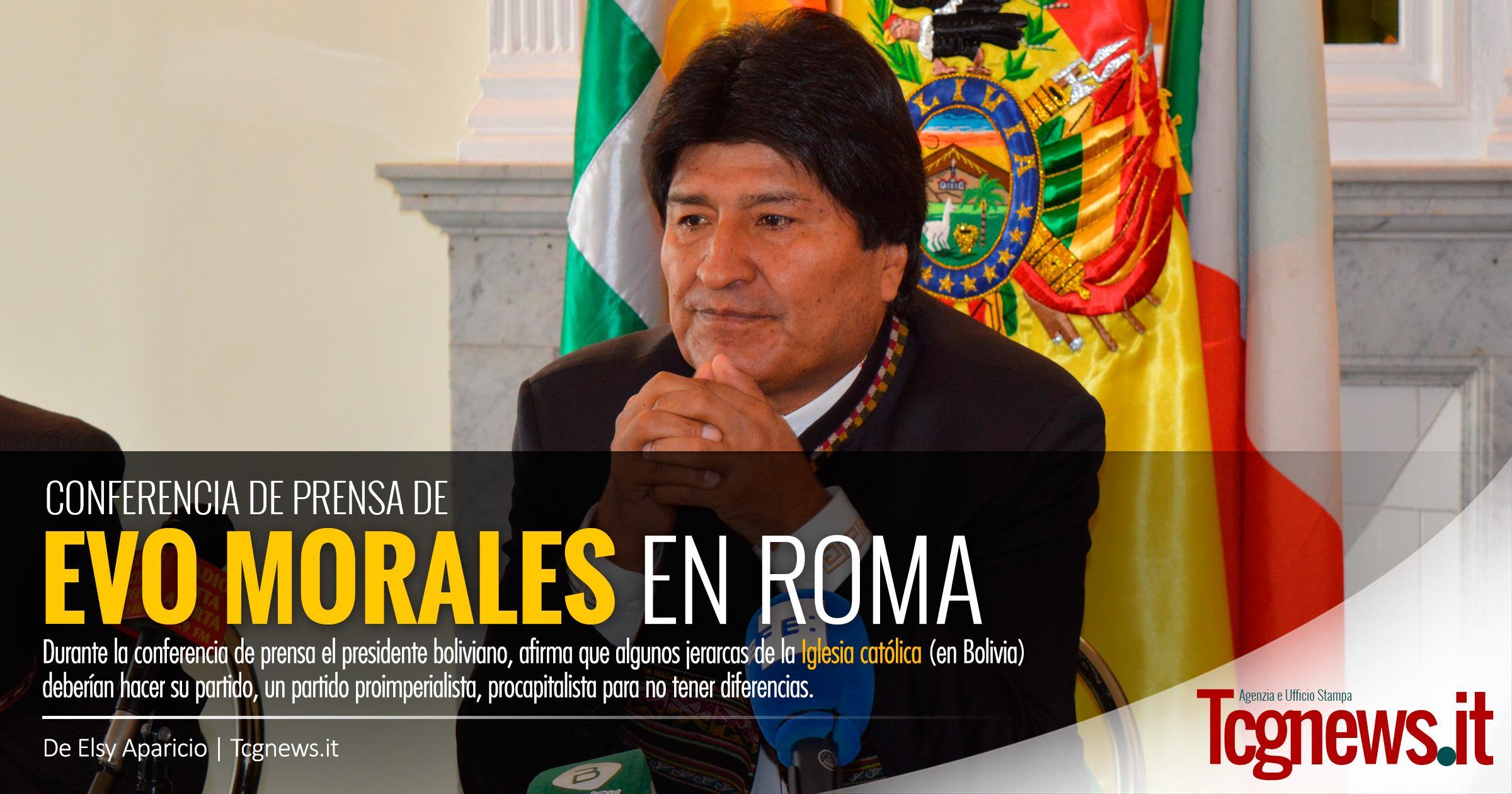 EVO MORALES LANZA DURA CRÍTICA A LA EPISCOPAL BOLIVIANA