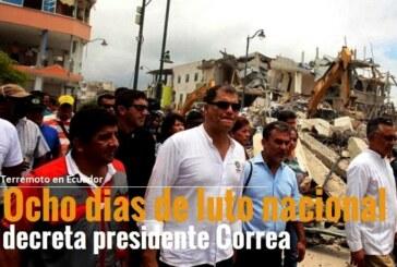 Presidente Correa decretará ocho días de luto nacional en Ecuador
