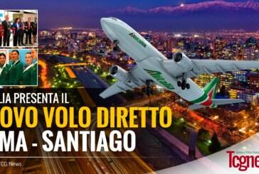 ALITALIA: Decolla il nuovo volo diretto Roma-Santiago