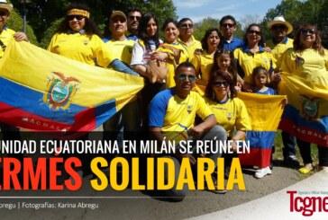 Comunidad ecuatoriana en Milán se reúne en kermés solidaria