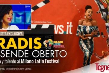 Eradis Josende Oberto, belleza y talento al Milano Latin Festival