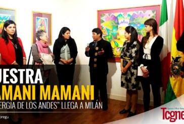 """Muestra Mamani Mamani, """"La energía de los Andes"""" llega a Milán"""