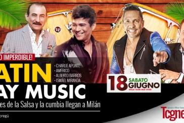 Latin Day Music, 4 grandes de la Salsa y la cumbia llegan a Milán
