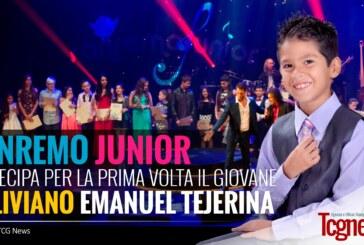 SANREMO JUNIOR: partecipa per la prima volta il giovane boliviano Emanuel Tejerina
