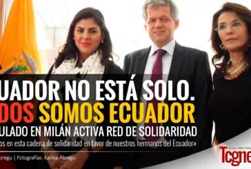 """""""Ecuador no está solo. Todos somos Ecuador"""", Consulado en Milán activa red de solidaridad"""