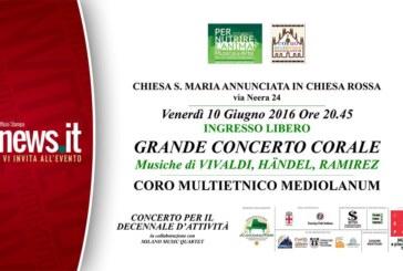 Concerto Sacro per celebrare il decennale dall'inizio dell'attività del Coro Multietnico Mediolanum