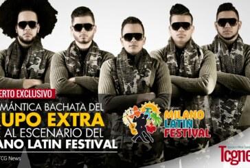 La romantica bachata del Grupo extra en el palco del Milano Latin festival