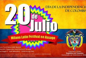 Milano Latin Festival: Mercoledì 20 luglio si celebra la festa Nazionale della Colombia.