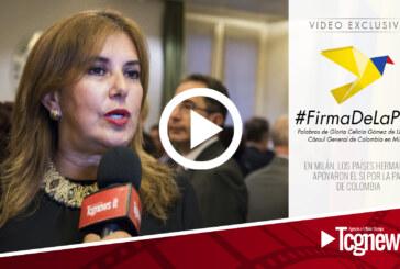En Milán, los países hermanos apoyaron el Sí por la paz de Colombia