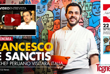 Top Chef peruano Francesco De Sanctis invita a degustar sus exquisitas recetas en Milán