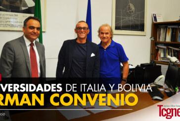 UNIVERSIDADES DE ITALIA Y BOLIVIA FIRMAN CONVENIO