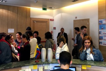 Colombianos en Milán se movilizaron por La Paz!