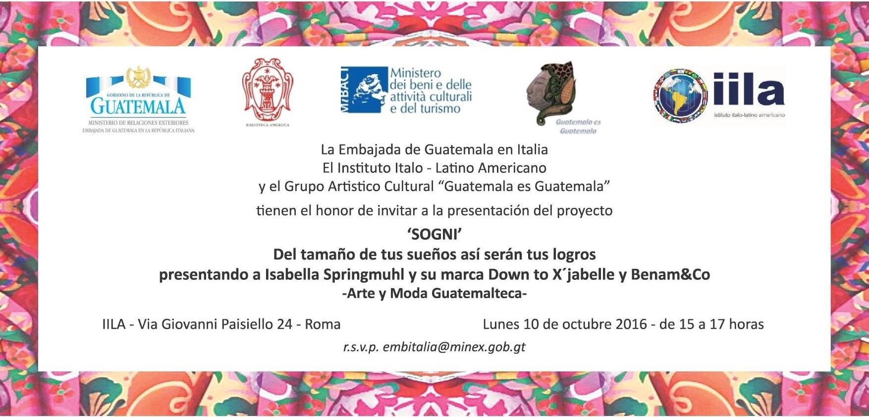 Incontro con la stilista guatemalteca Isabella Springmuhl