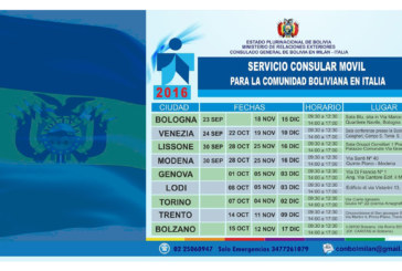 Bolivianos en el norte de Italia son atendidos en Consulados Móviles