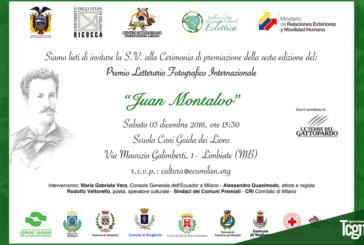 Il premio letterario Juan Montalvo arriva alla sua sesta edizione